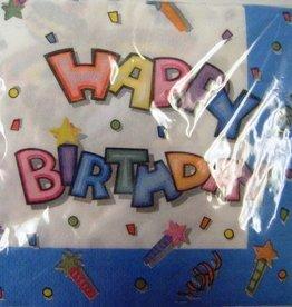 Napkins - Happy Birthday