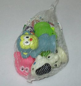 Party Favors 4Ct Rubber Assorted Animals Assorted Colours