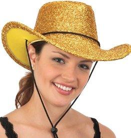 Glitter Cowboy Hat Gold