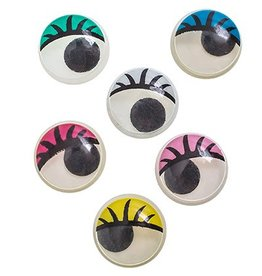 Moving Eyes P/O 12Mm - Eye Lids - Multi Color (10 Pieces)