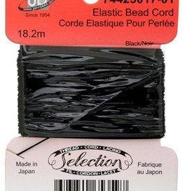 Elastic Bead Cord Black 18.2 Metres
