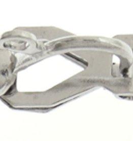 Earring Clip On W/Hook Nickel (4Pairs) 13X8Mm