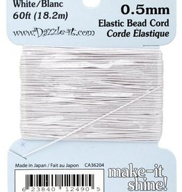 Elastic Bead Cord White 18.2 Metres