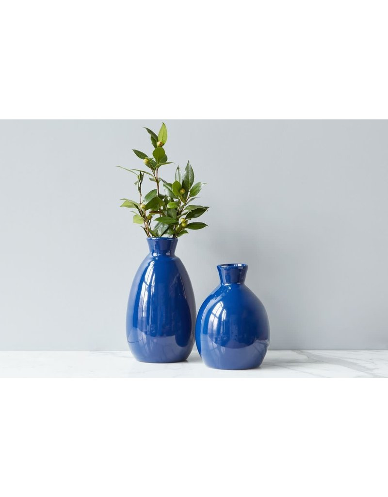 Navy Artisanal Vase - small
