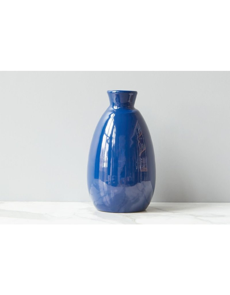 Navy Artisanal Vase - medium