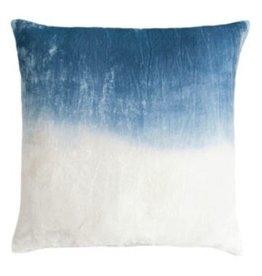 Dip Dye Velvet Pillow - Azul - 20x20