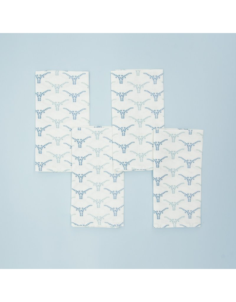 Texas Longhorns Blue Smoke Napkins - Set of 4
