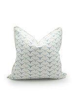 Oklahoma Feathers Blue Smoke Pillow - 22x22