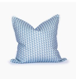 Florida Basketweave Blue Smoke Pillow - 22x22
