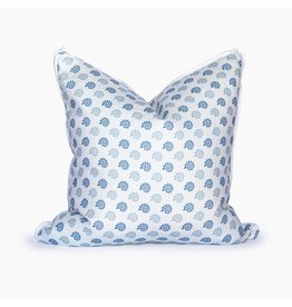 Georgia Seashells Blue Smoke Pillow - 22x22