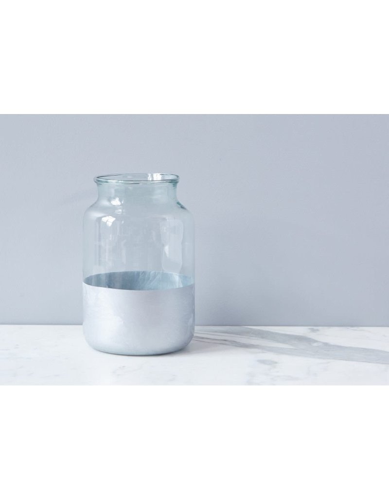 Silver Colorblock Mason Jar