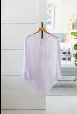 Linen Sheer Poncho - Lavender