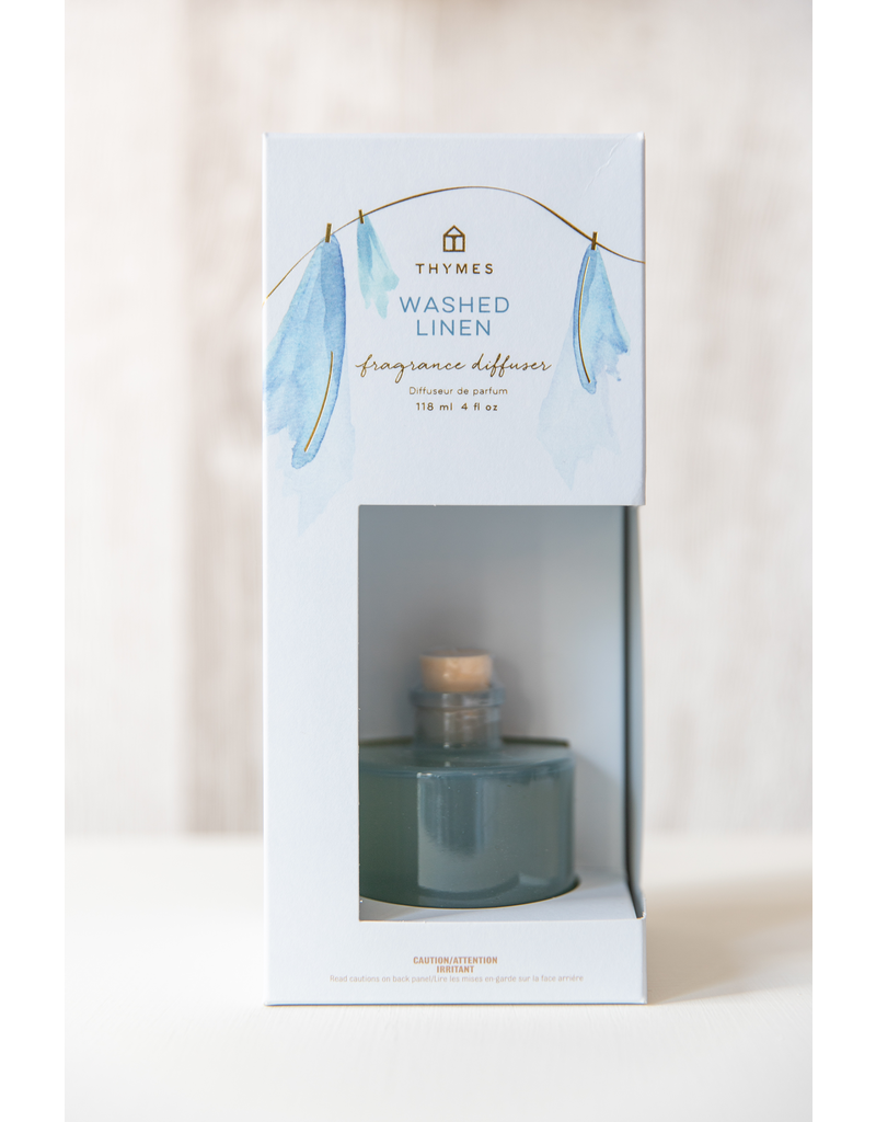 Thymes Washed Linen - Petite Diffuser