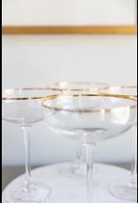 Martini Glass w/ Gold Rim