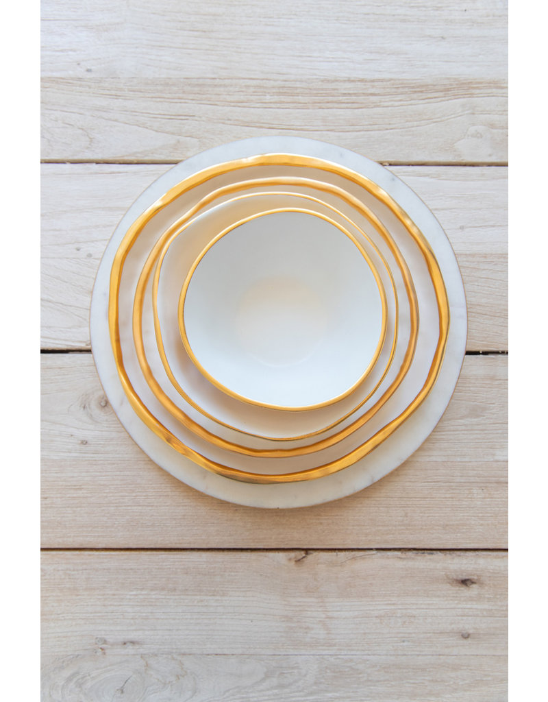 Plate No. Two Hundred Three 22k Gold - Large