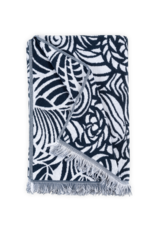 Seashells Beach Towel - Navy