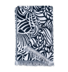 Seashells Beach Towel - Navy