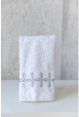 Gordian Guest Towel - Terry - Silver