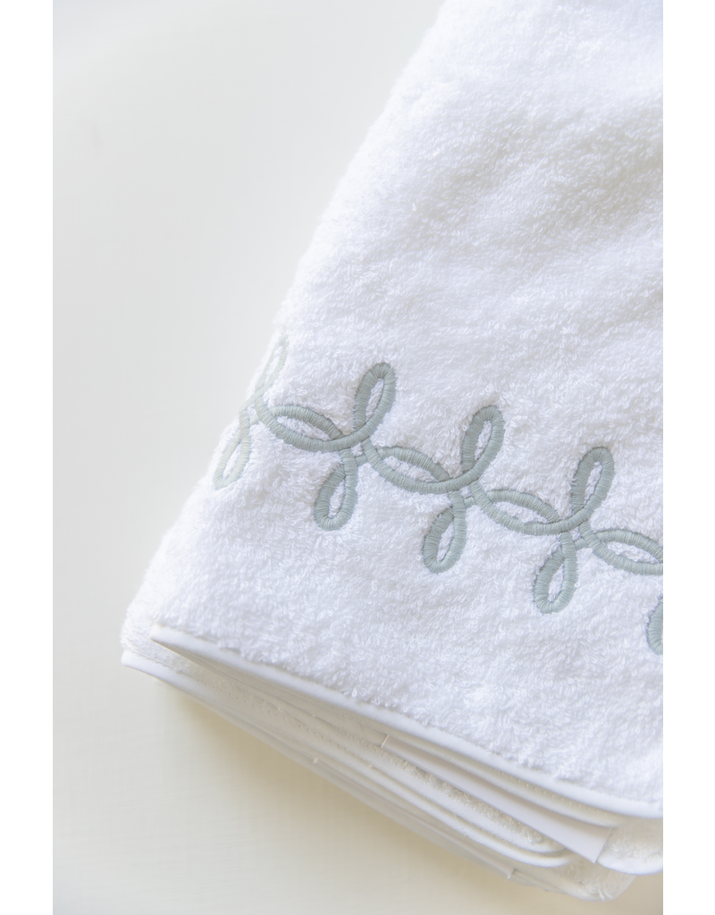 Gordian Guest Towel 14x21- Terry - Knot Silver