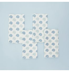 Napkins - Georgia Seashells- Blue Smoke - Set of 4