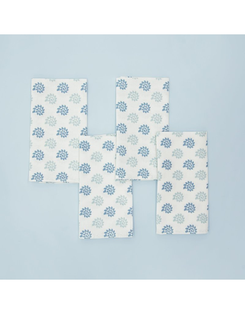 Napkins - Georgia Seashells- Blue Smoke - Set of 4