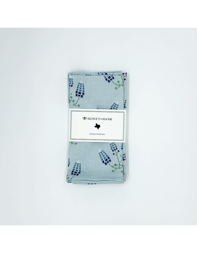 Napkins - Texas Bluebonnets (Powder Blue) s/4