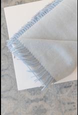 Herringbone Alpaca Throw - Ice Blue