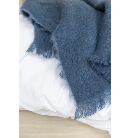 New Zealand Mohair Throw - Indigo