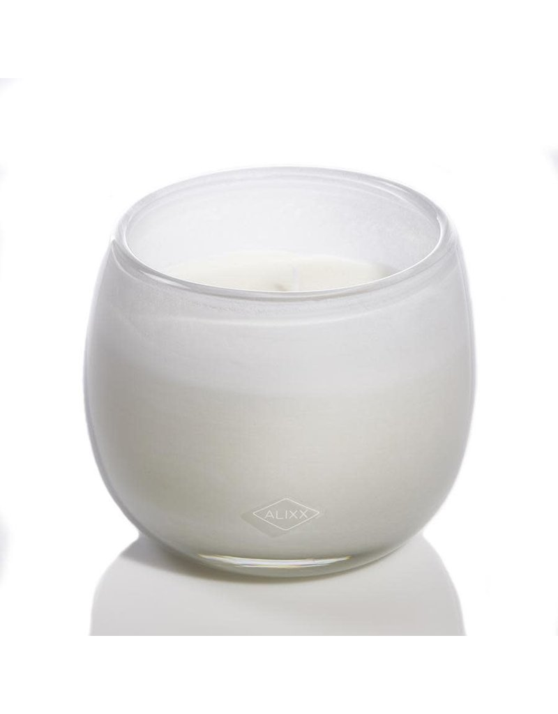 White Glass Ballon Candle - 16oz