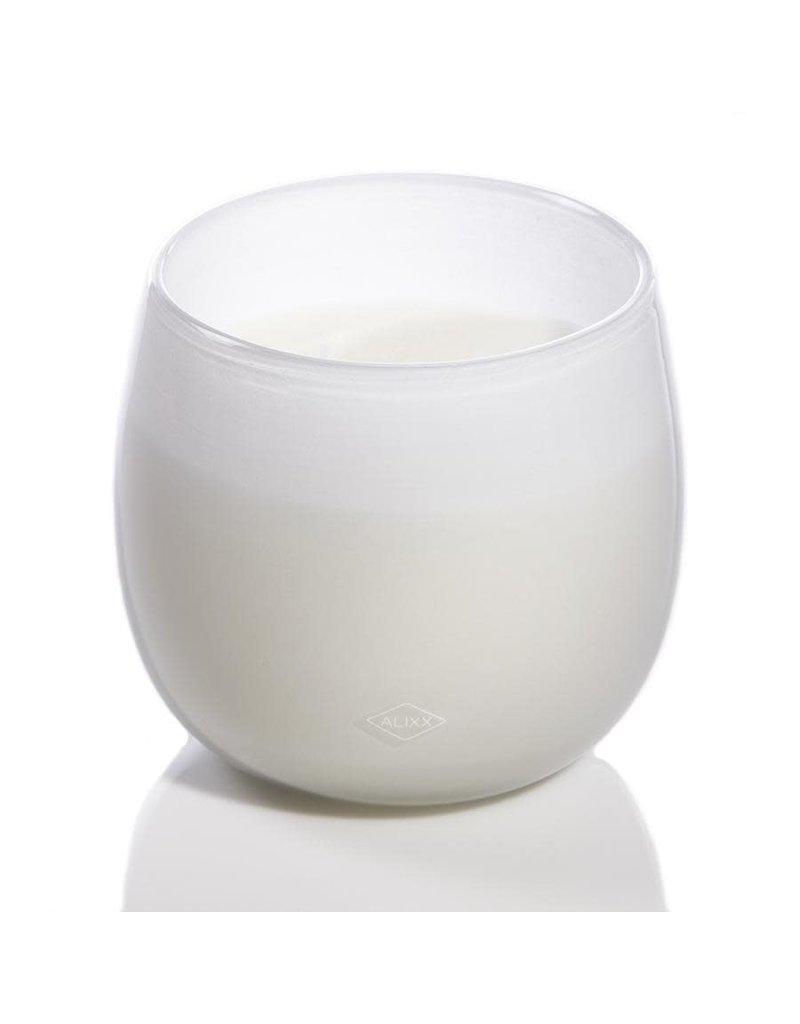 White Glass Ballon Candle - 40oz.