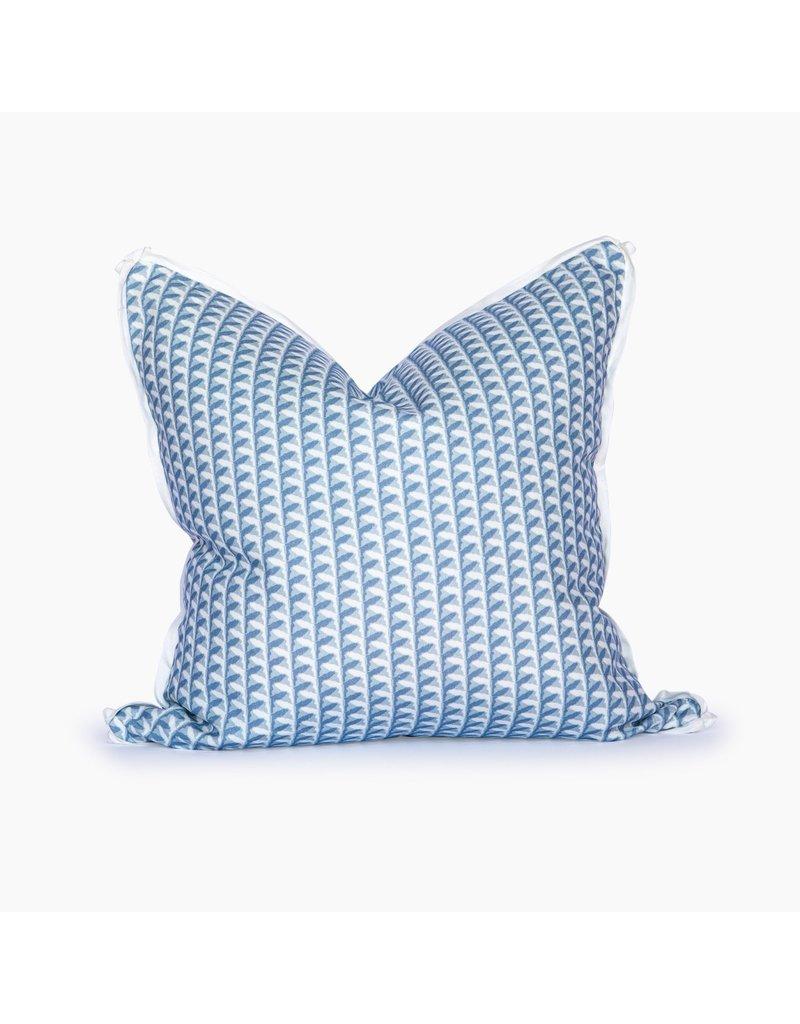 Florida Basketweave Blue Smoke Pillow - 22x22