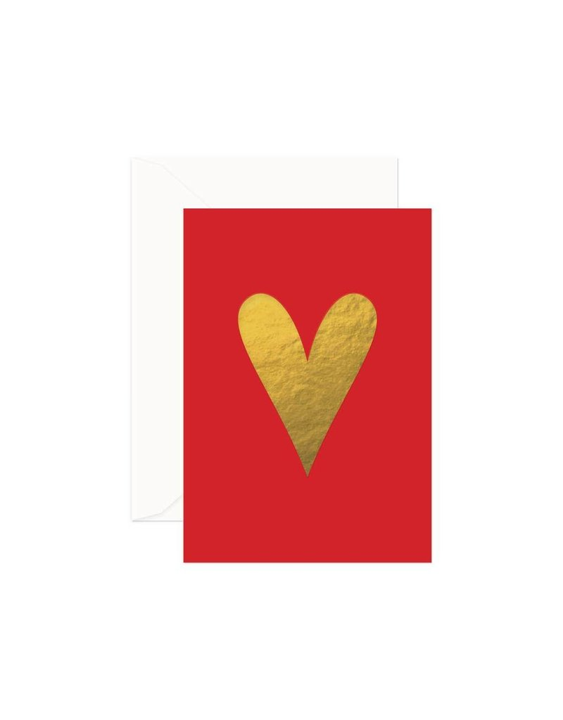 Heart Card (Red/Gold)