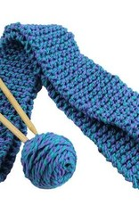 Harrisville Designs Harrisville Designs Quick-to-Knit Scarf Kit: Blue