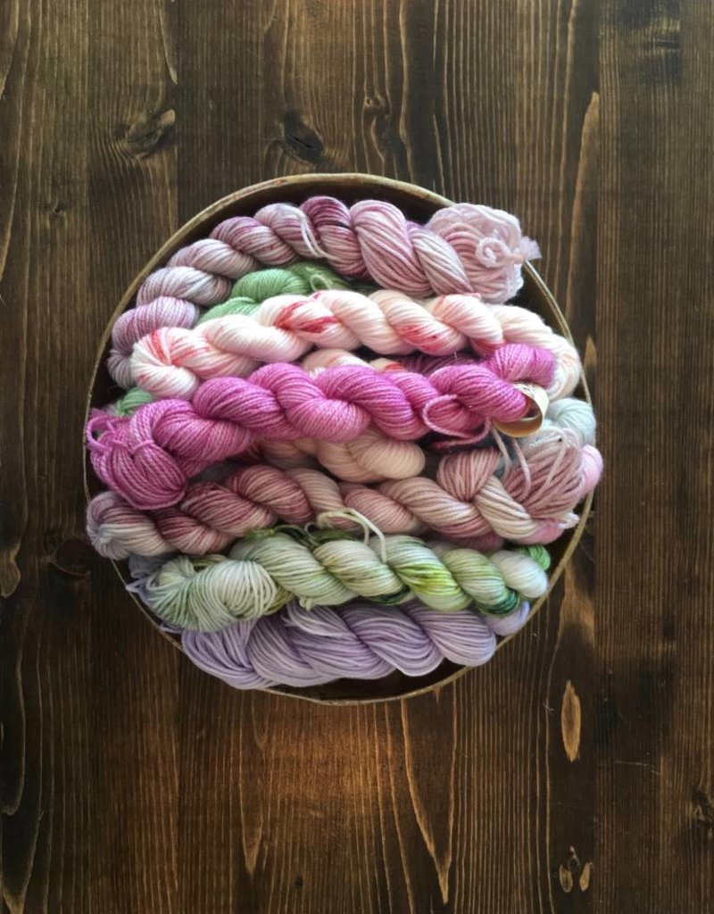 Cornbread and Honey Baby Bees Mini Skein - Fingering Weight