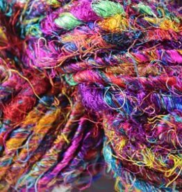 Carded Recycled Silk Sari Yarn
