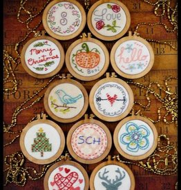 12 Mini Hoop Necklace Pendant Embroidery Designs