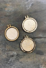 Teeny Tiny Mini Hoop Embroidery Pendant Blanks