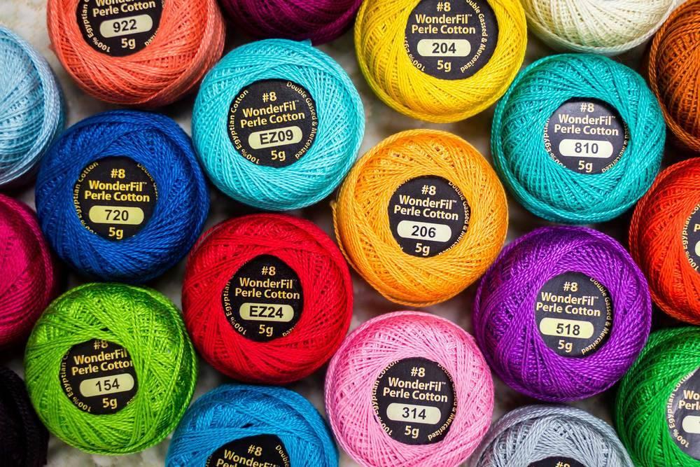 Wonderfil Eleganza # 8/Perle Coton Fil /à broder Sampler Collection,pastels