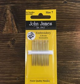 John James Needles John James Embroidery Needles Size 7