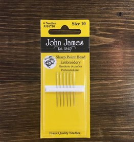 John James Needles John James Sharp Point Embroidery Needles Size 10