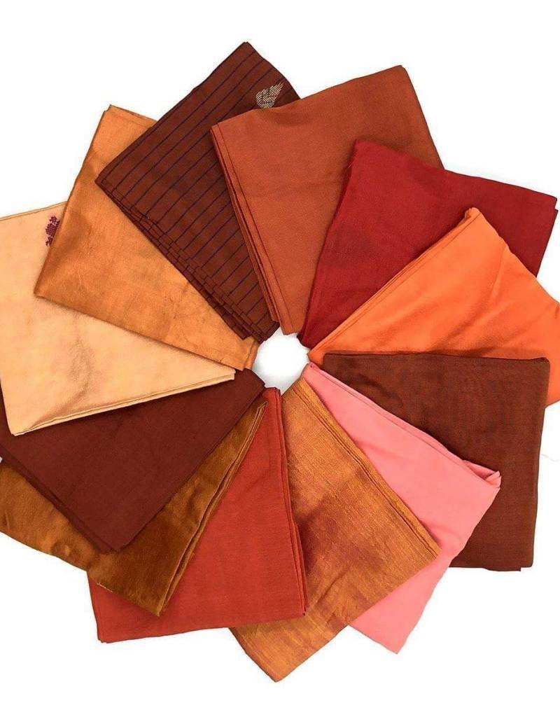 Darn Good Yarn Reclaimed Silk Sari - 12 Squares
