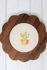 Handcrafted Decorative Embroidery Frame 5""