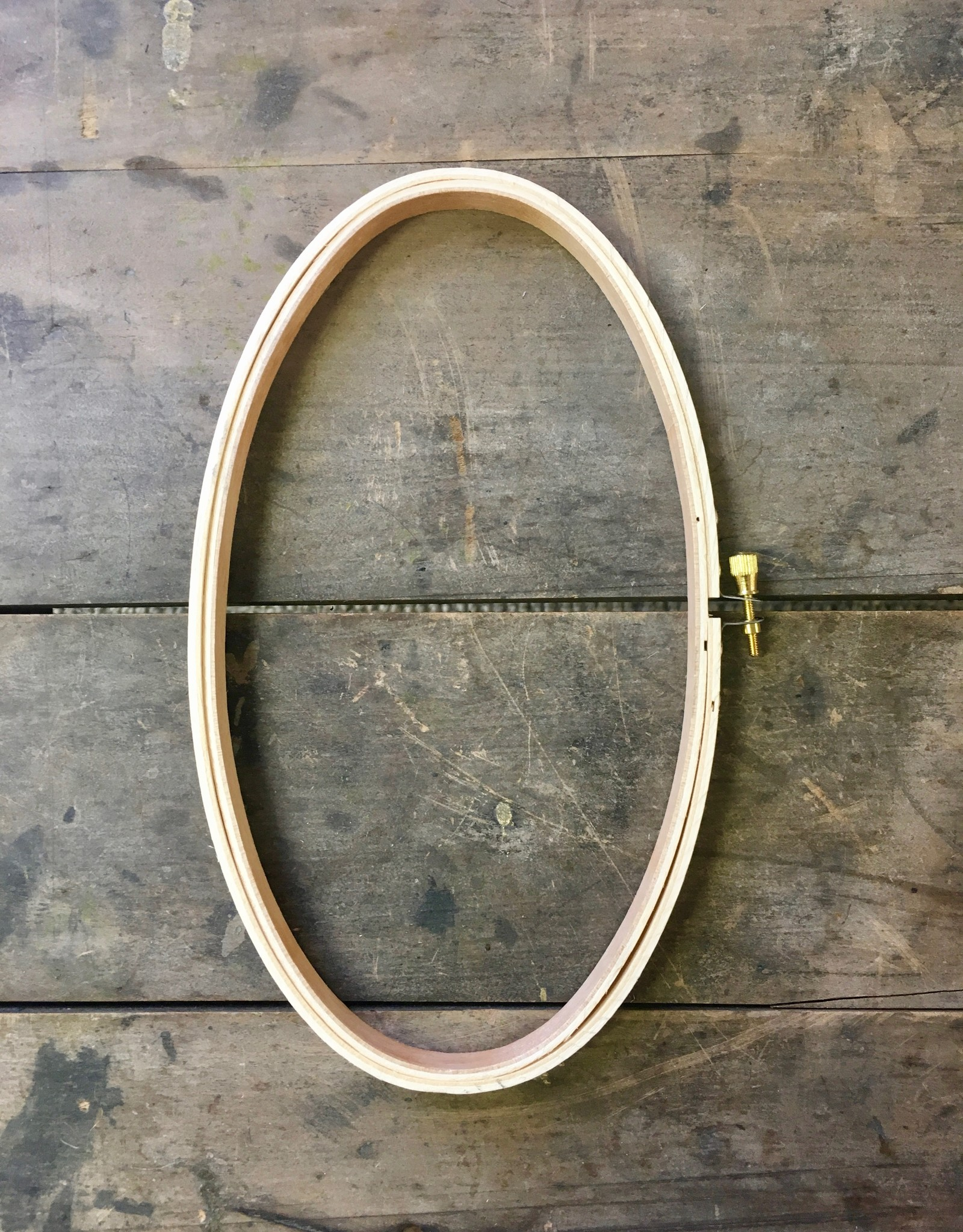 Oval Wooden Embroidery Hoop