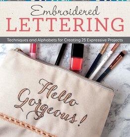 Embroidered Lettering by Debra Valencia
