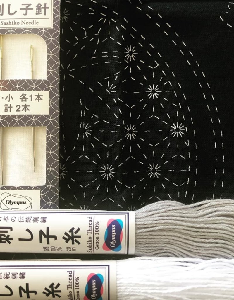 Sashiko Cloth with Pattern
