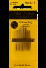 John James Needles John James Embroidery Needles Size  7