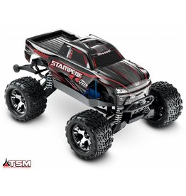 TRAXXAS TRA67086-4 STAMPEDE 4X4 VXL BLACK:  1/10 SCALE MONSTER TRUCK WITH TQI TRAXXAS LINK ENABLED 2.4GHZ RADIO SYSTEM & TRAXXAS STABILITY MANAGEMENT (TSM)