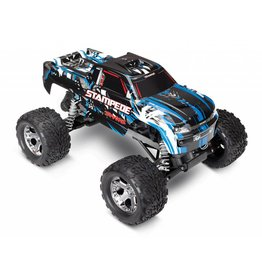 TRAXXAS TRA36054-4 STAMPEDE BLUE: 1/10 SCALE MONSTER TRUCK WITH TQ 2.4GHZ RADIO SYSTEM