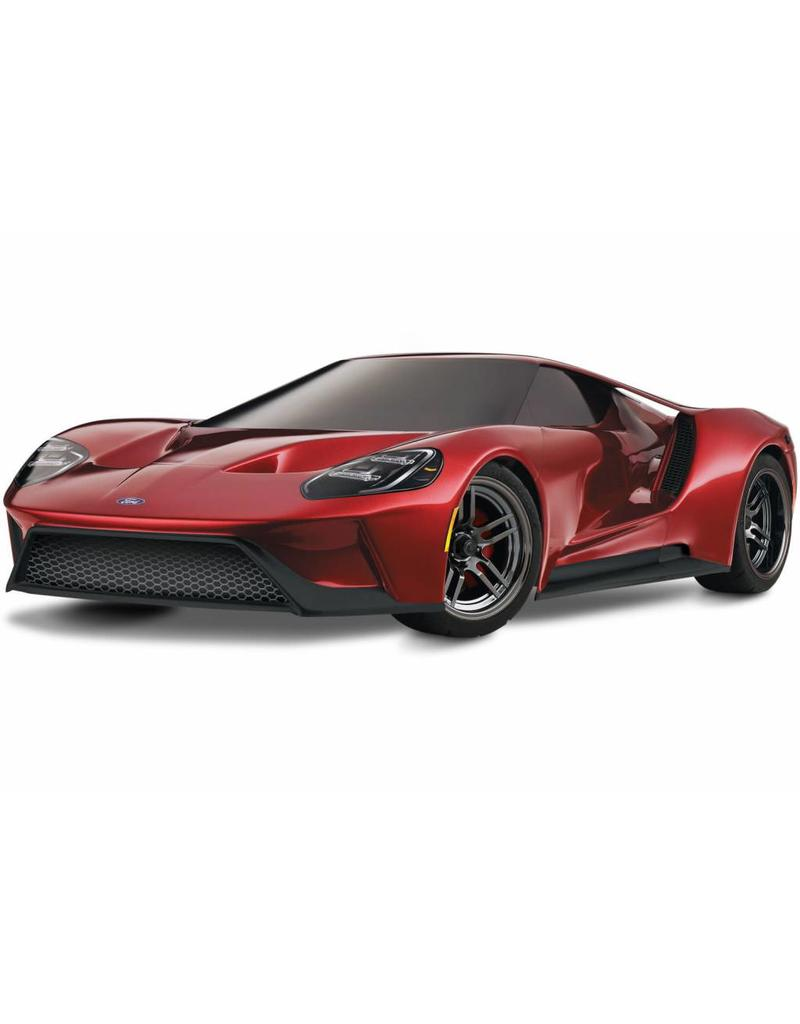 Tra _red Ford Gt   Scale Awd Supercar With Tqi Traxxas Link Enabled  Ghz Radio System Traxxas Stability Management Tsm