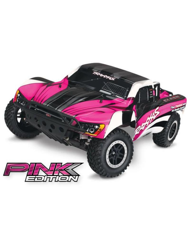 TRAXXAS TRA58034-2_PINK SLASH: 1/10-SCALE 2WD SHORT COURSE RACING TRUCK  WITH TQ 2 4GHZ RADIO SYSTEM AND ON-BOARD AUDIO